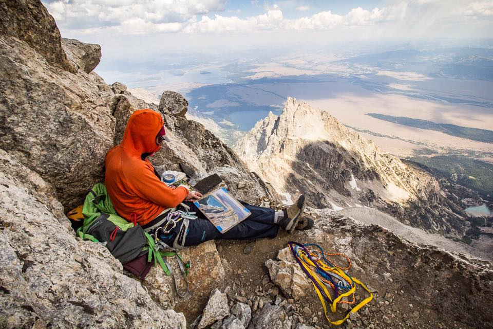 The view from the summit of the Grand Teton.